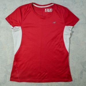 New Balance Pink-Red S/S Lightning Dry T-Shirt, NB